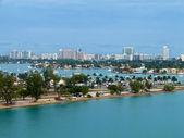 Eagle eye view of Miami port — Fotografia Stock