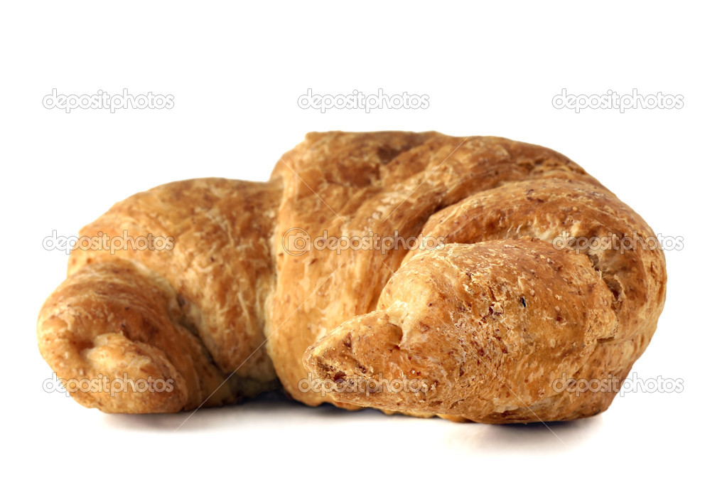 Whole wheat croissant on white — Stock Photo © Mirage3 #5326050