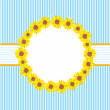 Sunflowers CARD - Stockvectorbeeld