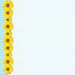 Sunflowers CARD - Image vectorielle