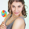Teenager girl with lollipop — Stock Photo