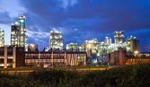 Industrial twilight — Stock Photo