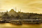 Suleymaniye mosque Golden Horn — Stock Photo