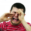 Man crying - Stock Photo
