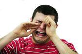 Man crying — Stock Photo