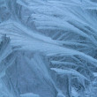 Frost on windowpane — Stockfoto