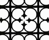 Wrought-iron fence — Stock Photo
