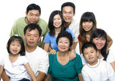 Asya ailesi — Stok fotoğraf