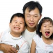 Stock Photo: Father and children