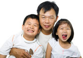 Father and children — Foto de Stock