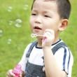 Royalty-Free Stock Photo: Blowing bubbles