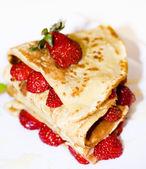 Strawberry pancake — Stock Photo