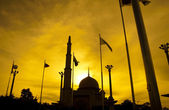 Silhouette of a mosque — Stock Photo