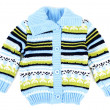 Baby sweater striped with blue strip — Stock Photo