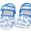 Blue baby sandals — Stock Photo