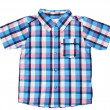 Plaid baby shirt — Stock Photo
