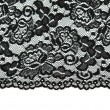 Stock Photo: Black lace with pattern with form flower