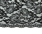 Black lace with pattern with form flower — Stock Photo