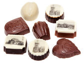 Chocolate sweetmeats with type of the Prague — Stock Photo