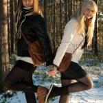 Two young beautiful girls — Stock Photo #4412919