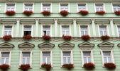 Facade of the green building — Stock Photo