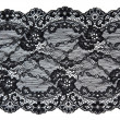 Stock Photo: Black lace with pattern in manner of flower
