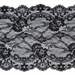 Stock Photo: Black lace with pattern in the manner of flower
