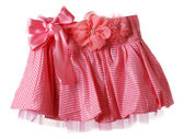 Red skirt in bow in form flower — Stock Photo