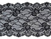 Black lace with pattern in the manner of flower — Stock Photo
