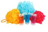 Set for bath colour sponges — Stock Photo