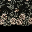 Rose lace with pattern in the manner of flower — Stock Photo