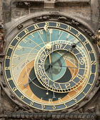 Clock on the Old Living surface in Prague — Stock Photo