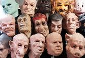 Rubber masks — Stock Photo