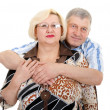 Stock Photo: Portrait of an elderly couple