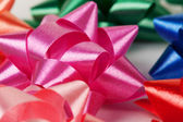 Color of gift ribbons — Stock Photo