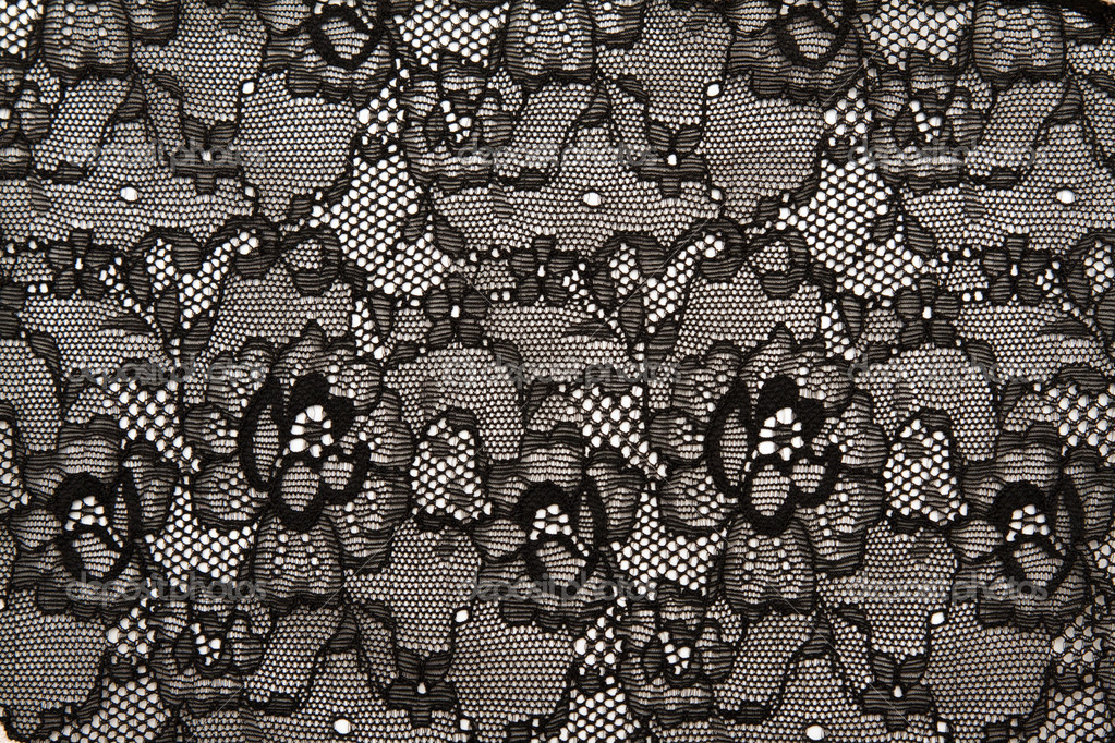 Background from black lace with pattern with form flower ...