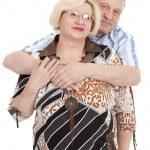 Portrait of an elderly couple — Stock Photo