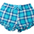 Plaid blue shorts - Stock Photo