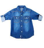 Blue denim shirt — Stock Photo