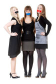 Three young girls — Stock Photo