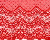 Decorative red lace — Stock Photo