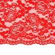 Red lace with pattern with form flower — Stok fotoğraf #5036027