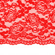 Red lace with pattern with form flower — Stock Photo