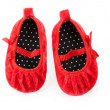 Red baby booties — Stock Photo