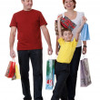 Stock Photo: Family for shopping