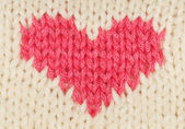 Knit red heart — Stock Photo