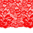 Decorative red lace — 图库照片