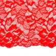 Decorative red lace — Stock fotografie