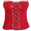 Red corset female — Foto de Stock