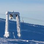 Support the ski lift — Stock Photo